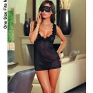 Mesh Babydoll, G-String & Eye Mask