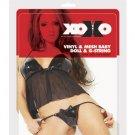 XOXO Vinyl & Mesh Babydoll