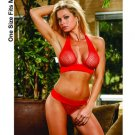(O/S) Fence Net Halter Top & G-String