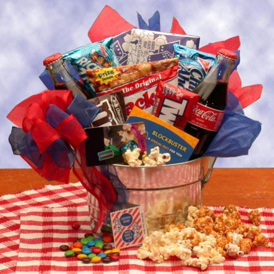 Blockbuster Night Pail With $10.00 Gift Card
