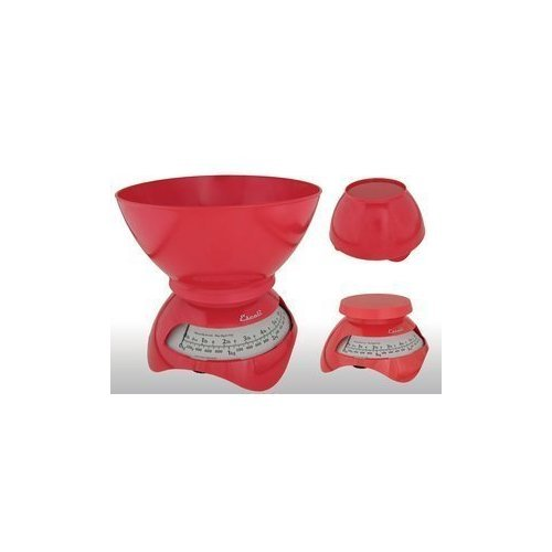 Escali Estilo Designer Dial Kitchen Scale Cherry Red