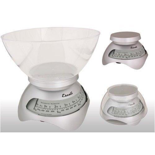 Escali Estilo Designer Dial Kitchen Scale Silver Grey