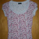 Flowered Print WETSEAL Brand T-Shirt - SMALL -