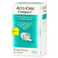 Accu-Chek COMPACT STRIPS (3 Drums) 51/Box