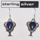 Sterling Silver & Lapis Dangle Earrings