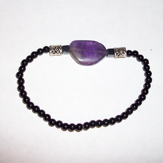 Amethyst Celtic Knot Bracelet