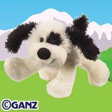 Black & White Cheeky Dog Webkinz