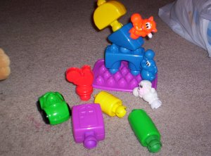 TODDLER LEARNING TOYS   shape sorter, blocks