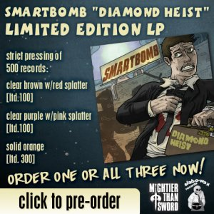 "Smartbomb ""Diamond Heist"" ALL 3 LPs OUT NOW!!!"