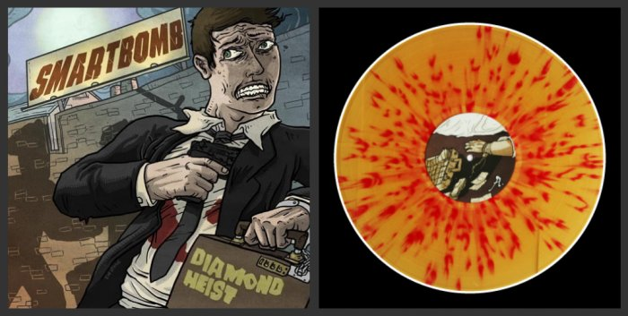 "Smartbomb ""Diamond Heist"" LP *Clear Brown Vinyl w/ Red Splatter*"