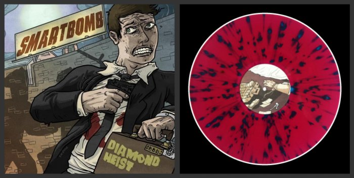 "Smartbomb ""Diamond Heist"" LP *Clear Purple Vinyl w/ Blue Splatter*"