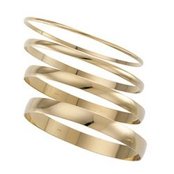 14K Yellow Gold Half Round Bracelet