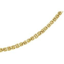 14K Yellow Gold Solid Byzantine Chain - 7 inches