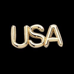 14K Yellow Gold USA Lapel Pin