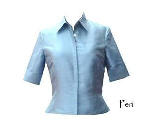 Womens Silk Shantung Shirt