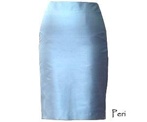 Womens Silk Shantung Skirt