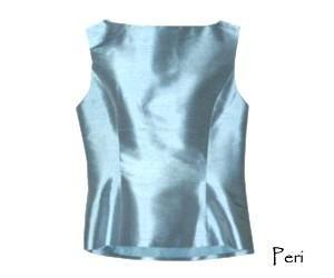 Womens Silk Shantung Sleeveless Top