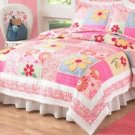 Olivia Pink Full / Queen Quilt with 2 Shams