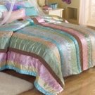 Tea Party Full / Queen Comforter With 2 Shams