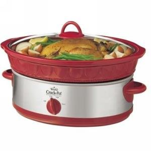 6qt Slow Cooker Red