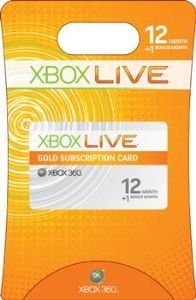 Xbox Live 12+1 Month Gold Card