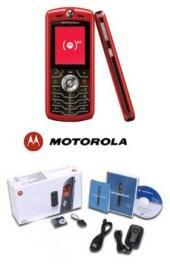 Motorola L7 Slvr Metallic Red Ultra Slim Cellular Phone (unlocked)
