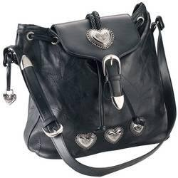 Embassy� Italian Stone� Design Genuine Leather Shoulder Bag