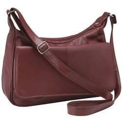 Embassy� Burgundy Solid Genuine Leather Purse
