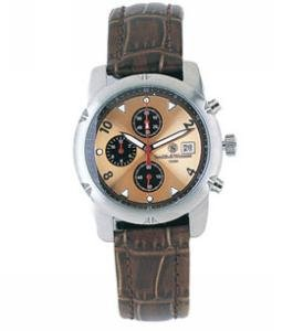 Smith & Wesson Watch Stainless Chronograph Gold - Leather Strap