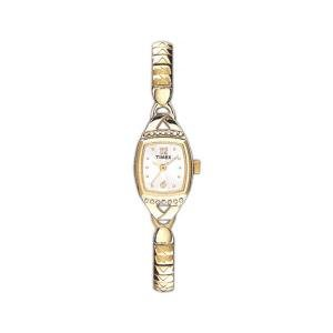 Timex T21932 Ladies Fashion Watch With Gold Tone Expansion Band