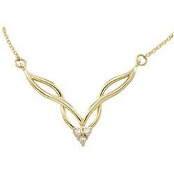 14K Yellow Gold Diamond Assembly Necklace