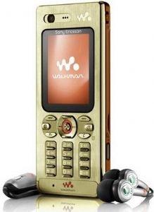 Sony Ericsson W880i Tri-Band Unlocked Phone (gold)