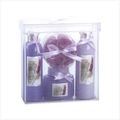 Bath Set In Organza Basket