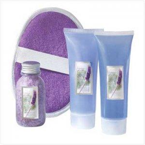 Lavender Bath Set In Tote Bag