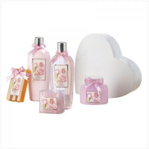 Rose Bath Set