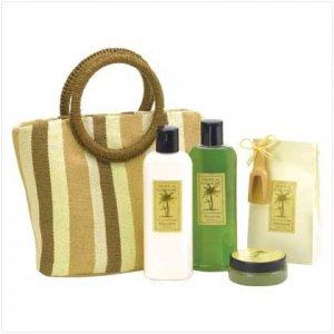 Coconut Lime Bath Set-Tote Bag