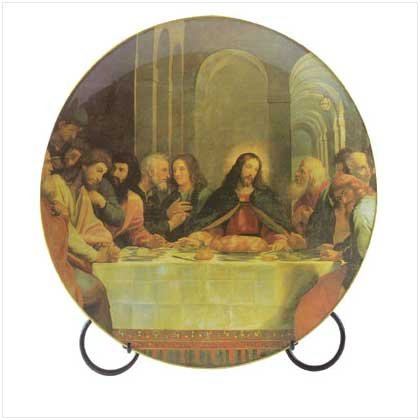 9 PLATE W/LAST SUPPER PRIN