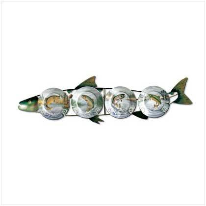 Trout Plates & Metal Rack - 5 Pc