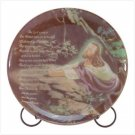PATCHWORK JESUS PRAYING PLATE