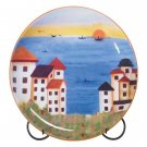 Patchwork Coast Plate with Stand - Clearance