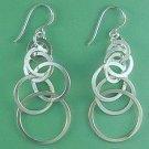 Large chain hook earrings