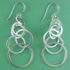 Large chain hook earrings
