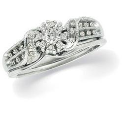 14K White Gold Diamond Bridal Set Ring