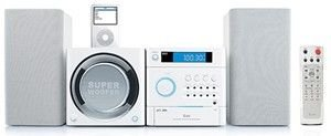 Iluv I7500 Mini Mp3 Stereo System With Ipod Docking Station - White