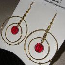 Round Earring with Ruby