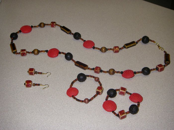 fall collection Long black/red/brown set