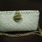Vintage Basket Weaved Lancel of Paris Clutch handbag