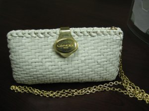 Vintage Basket Weaved Lancel of Paris Clutch handbag