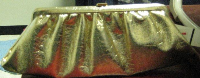 1940's Golden Clutch handbag