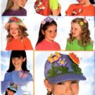 BUTTERICK 5453 Girls Headband & Hat flower embellishments Pattern